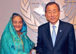 Hasina, Ban Ki-moon